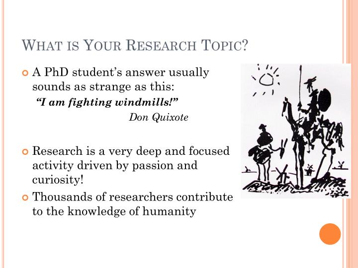 What is Your Research Topic?