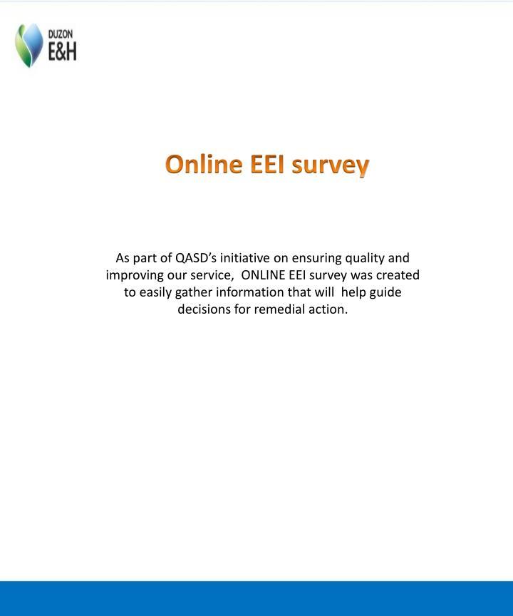 Online EEI survey