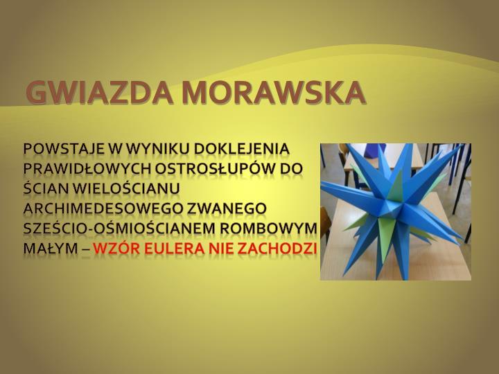 GWIAZDA MORAWSKA