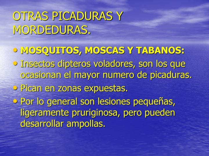 OTRAS PICADURAS Y MORDEDURAS.