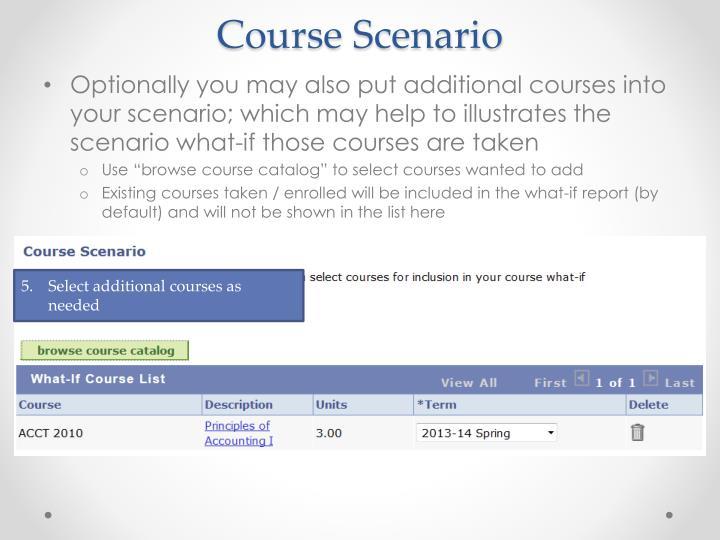 Course Scenario