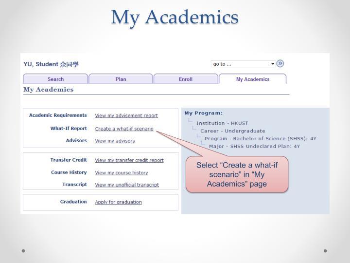 My Academics