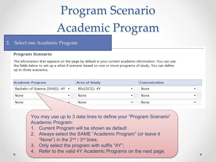 Program Scenario