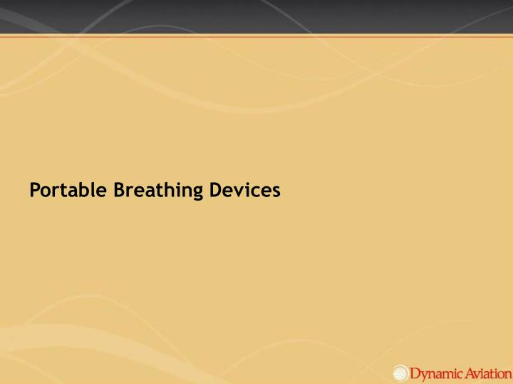 Portable Breathing Devices