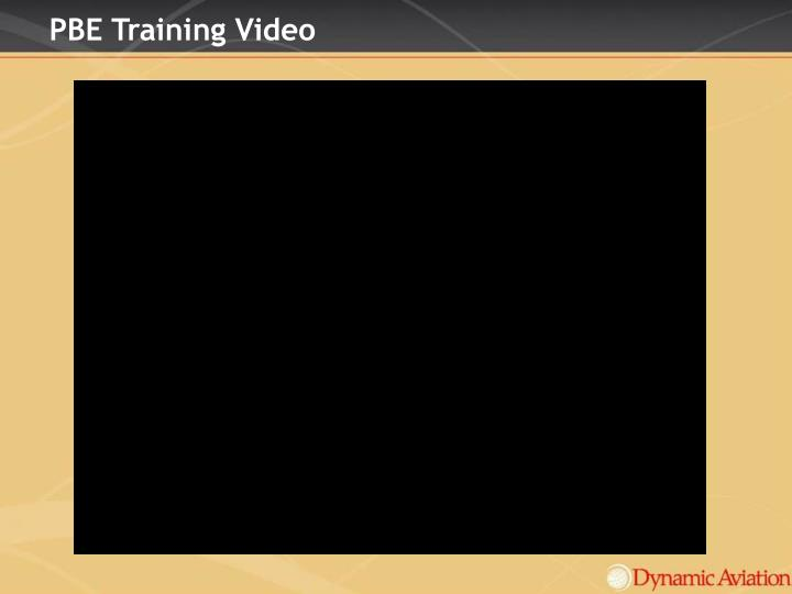 PBE Training Video