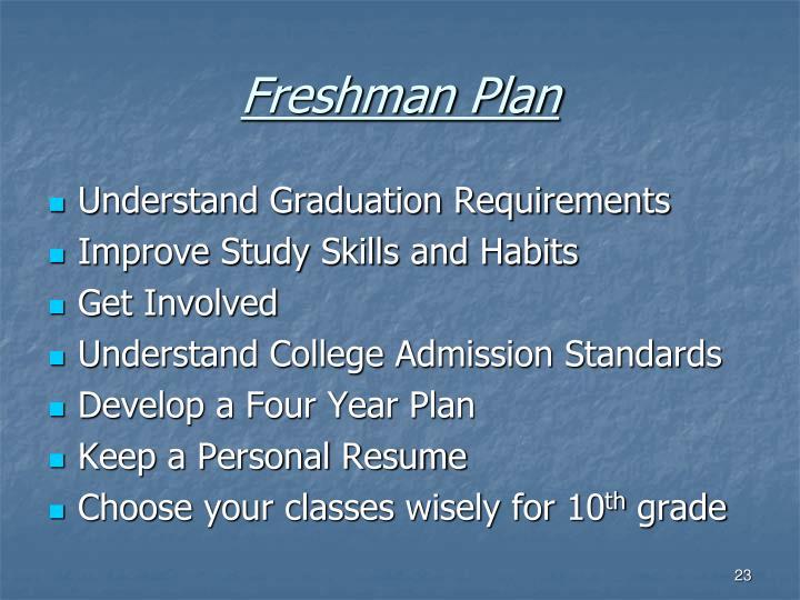 Freshman Plan