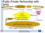 public private partnership with dfid