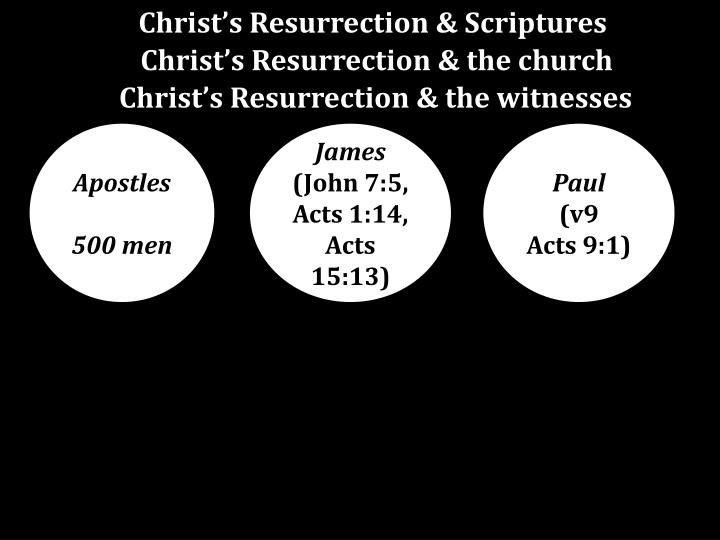 Christ's Resurrection & Scriptures