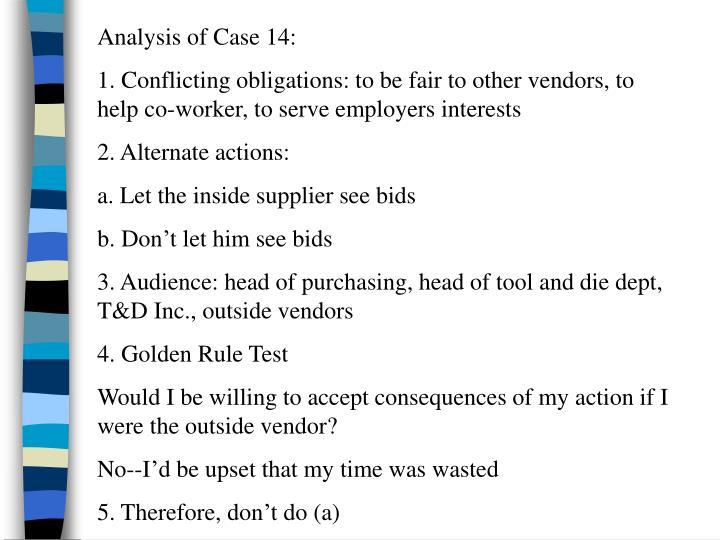 Analysis of Case 14: