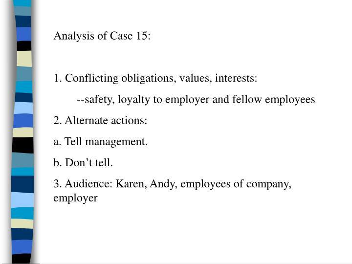 Analysis of Case 15: