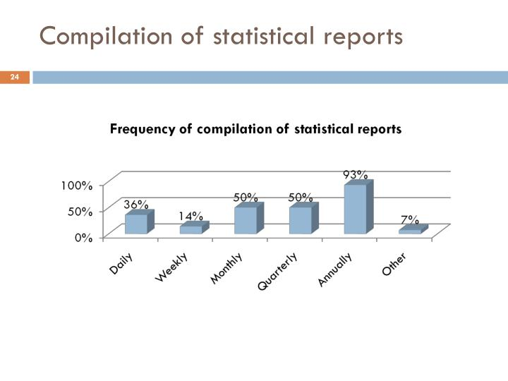 Compilation of statistical reports