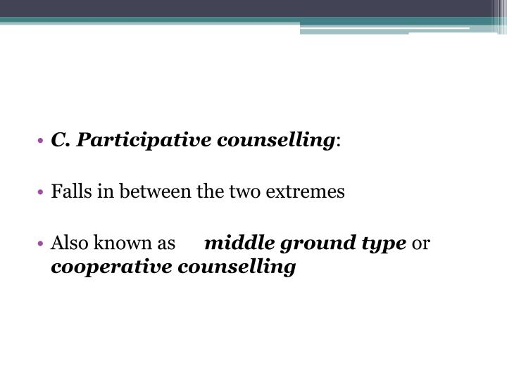C. Participative counselling