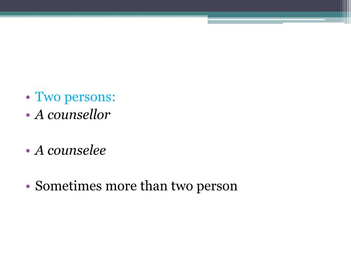 Two persons: