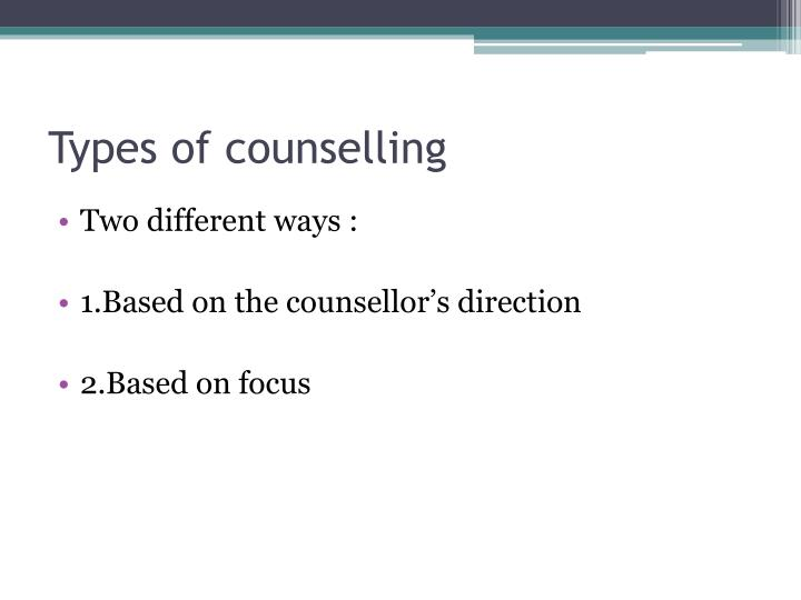 Types of counselling