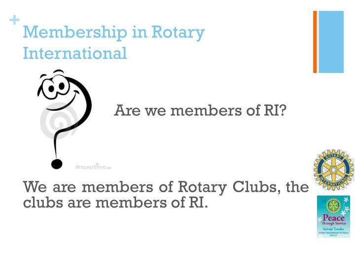 Membership in Rotary International