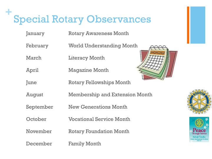 Special Rotary Observances