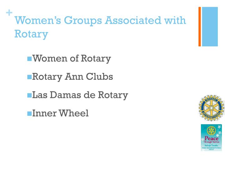 Women's Groups Associated with Rotary