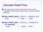 calculate retail price
