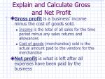 explain and calculate gross and net profit