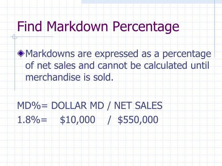 Find Markdown Percentage