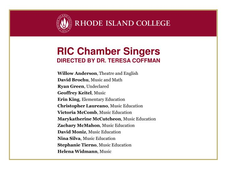 RIC Chamber Singers
