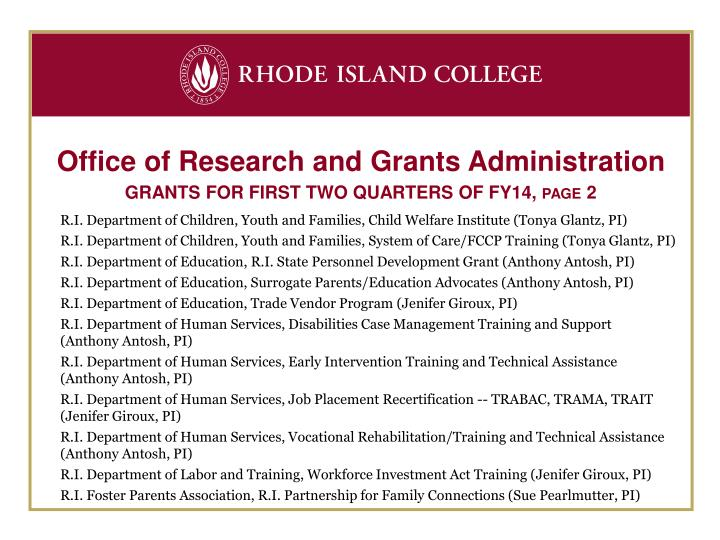 Office of Research and Grants Administration