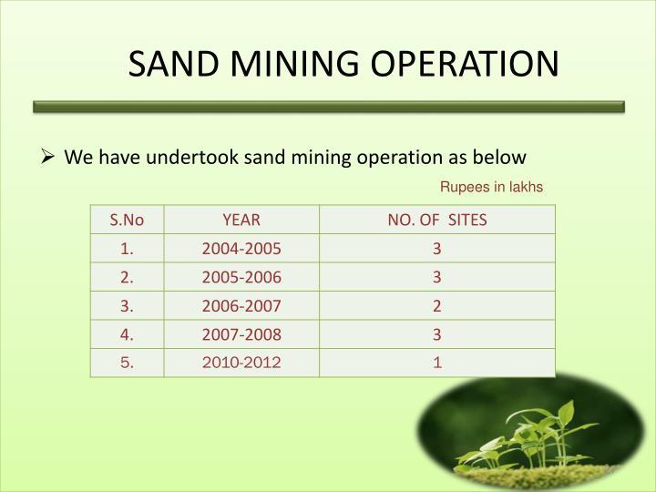 SAND MINING OPERATION