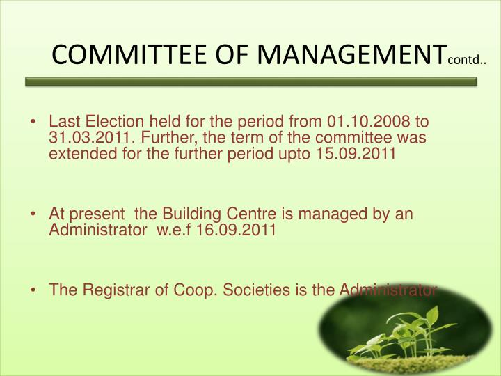 COMMITTEE OF