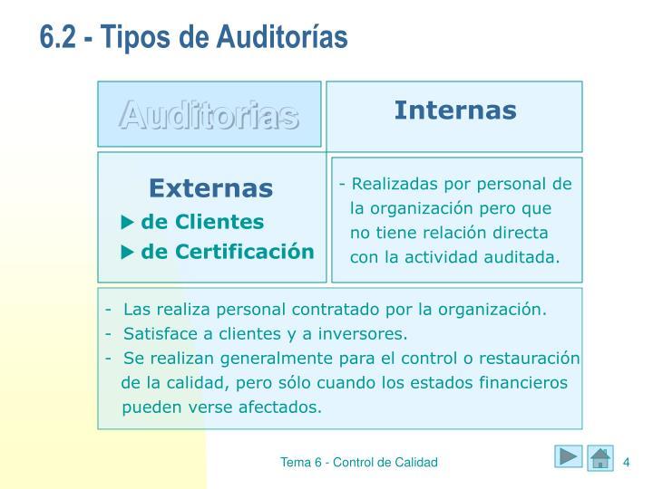 6.2 - Tipos de Auditorías
