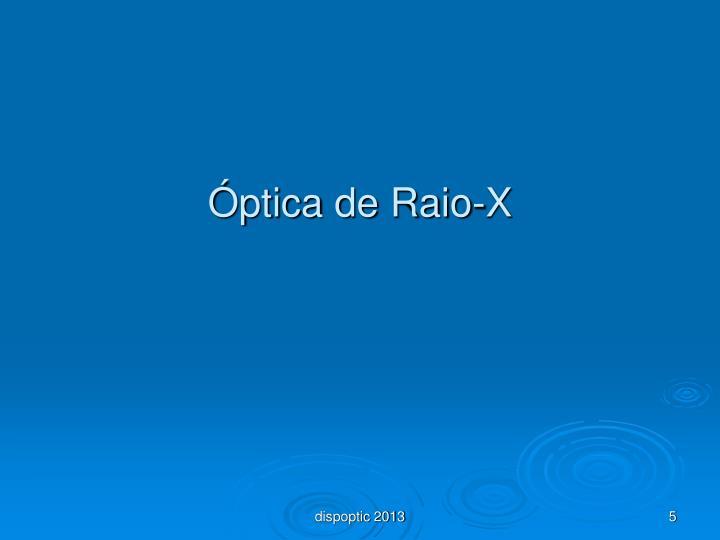 Óptica de Raio-X