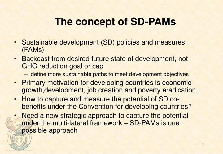The concept of sd pams