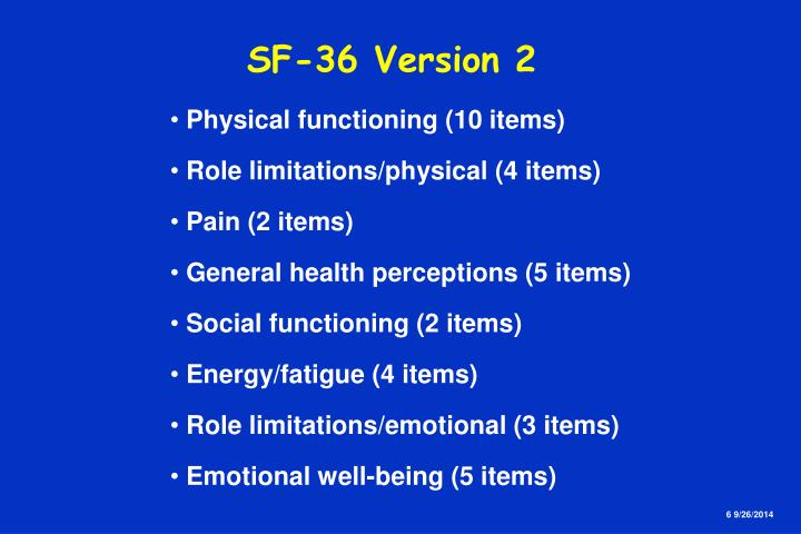SF-36 Version 2