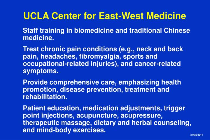 Ucla center for east west medicine