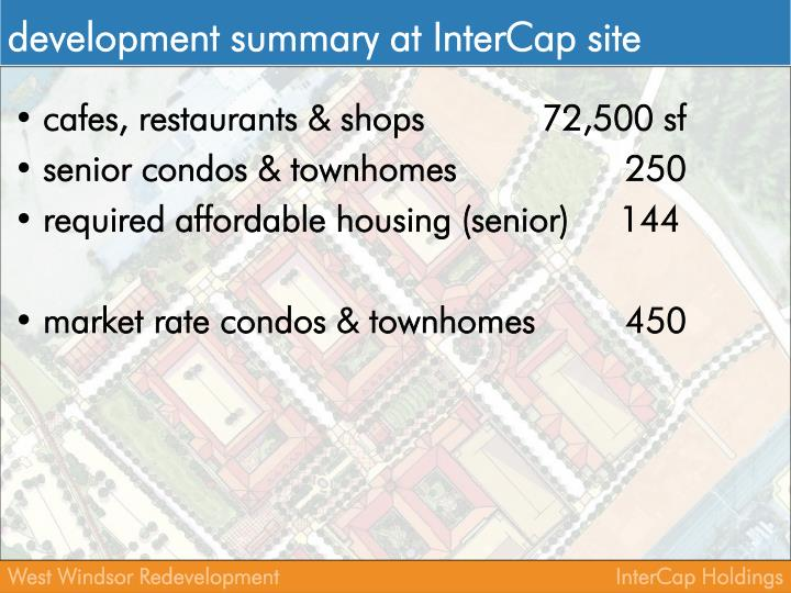 development summary at InterCap site