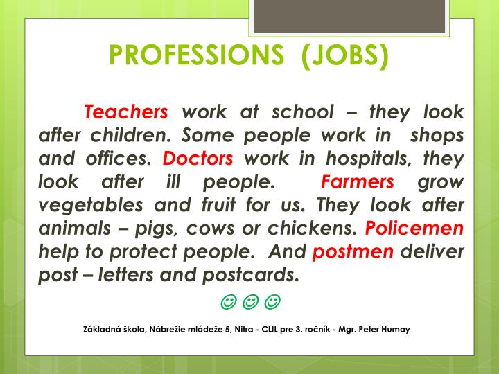 PROFESSIONS  (JOBS)