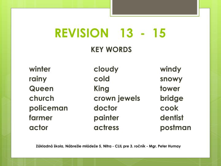 REVISION   13  -  15