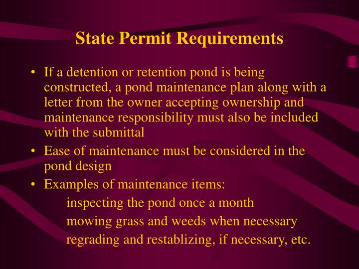 State Permit Requirements