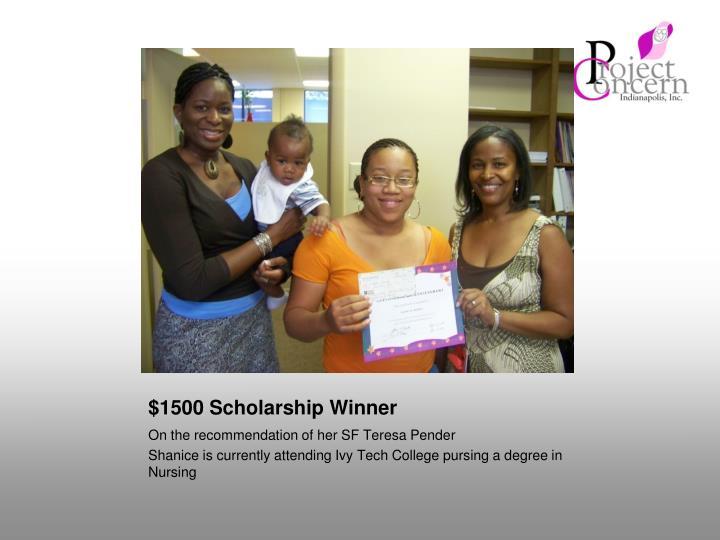 $1500 Scholarship Winner