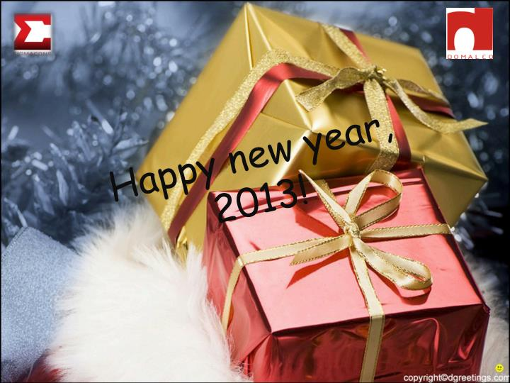Happy new year, 2013!