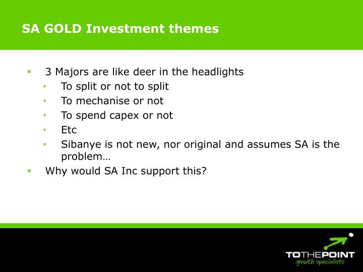 SA GOLD Investment themes