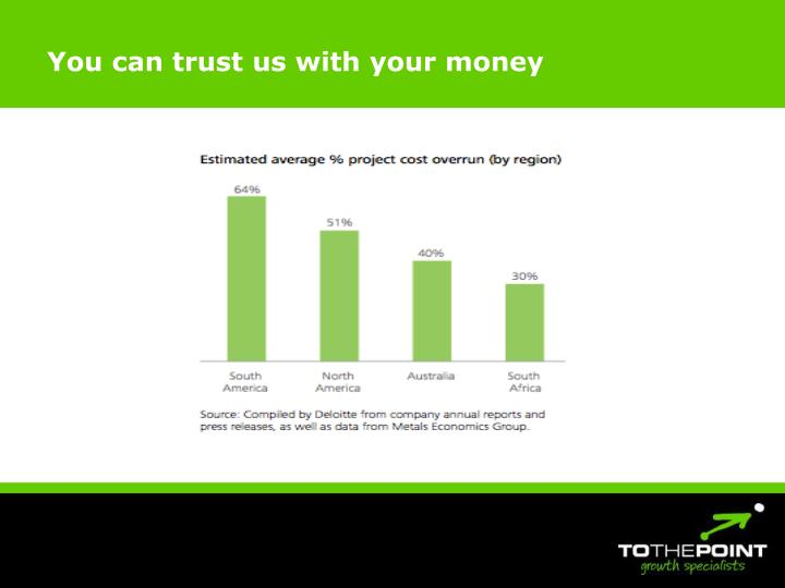 You can trust us with your money