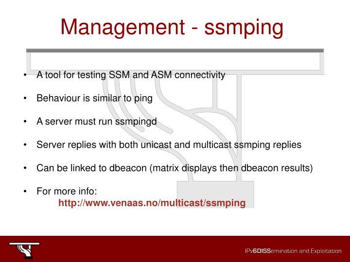 Management - ssmping