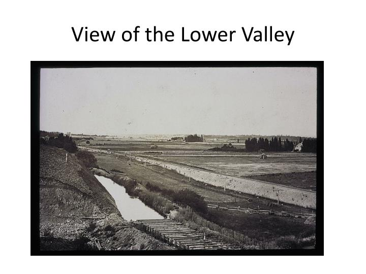 View of the lower valley