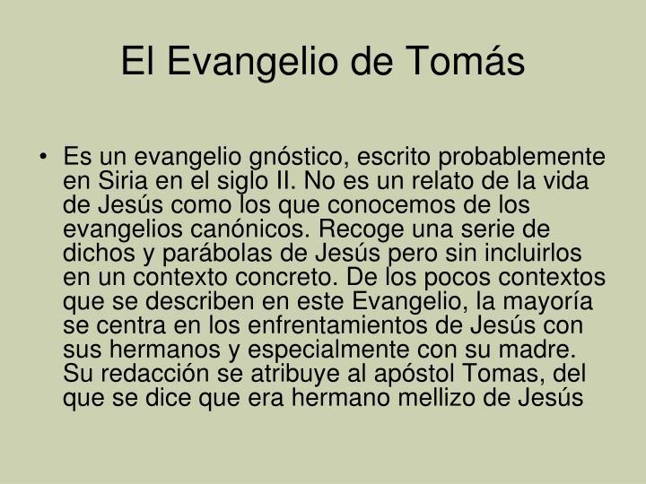 El Evangelio de Tomás