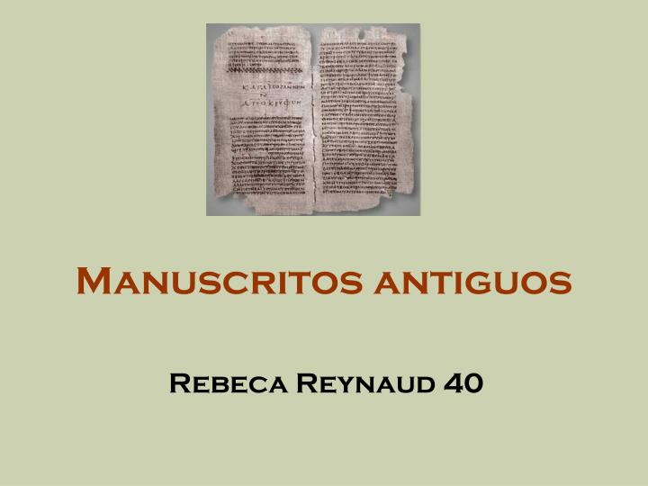 manuscritos antiguos