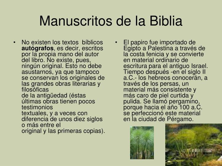 No existen los textos  bíblicos