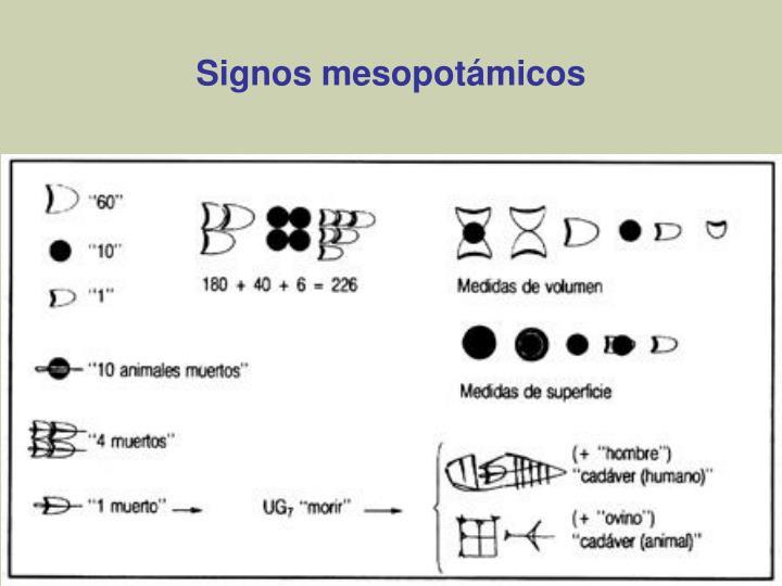 Signos mesopotámicos