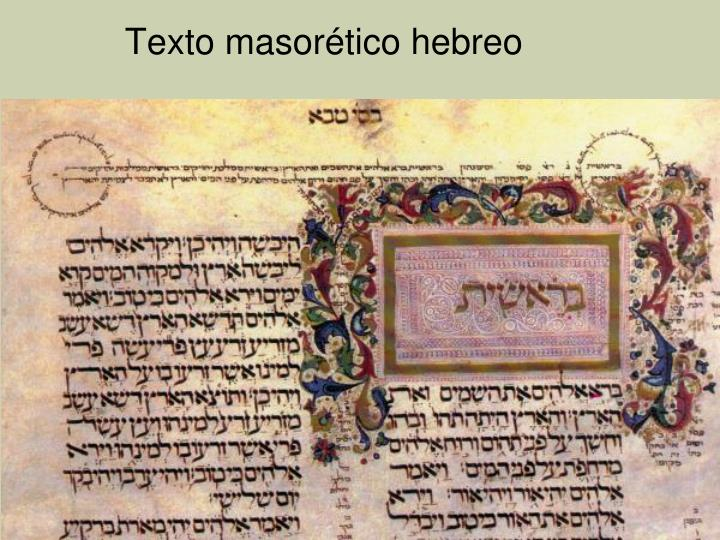 Texto masorético hebreo