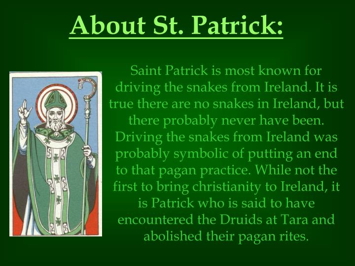 About St. Patrick: