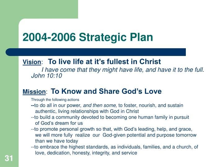 2004-2006 Strategic Plan